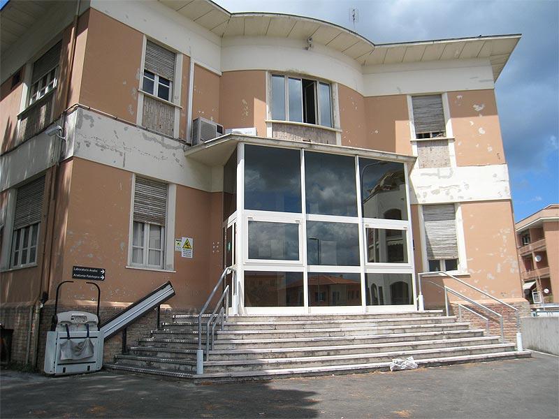 Laboratorio analisi dell'ospedale di Senigallia