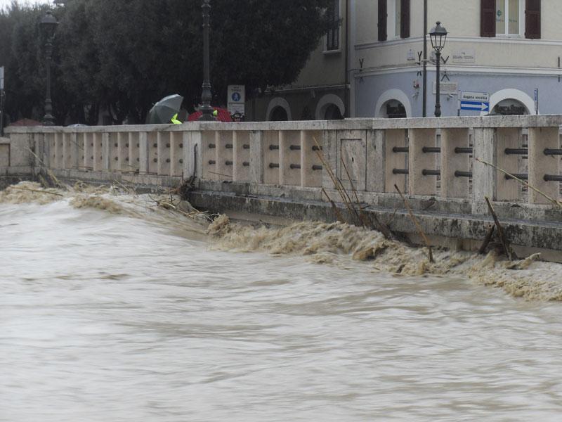 Il fiume Misa in piena - alluvione del marzo 2011