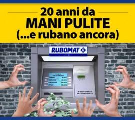 """Locandina """"20 anni da Mani Pulite"""""""
