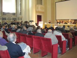 L'interno dell'Auditorium San Rocco di Senigallia