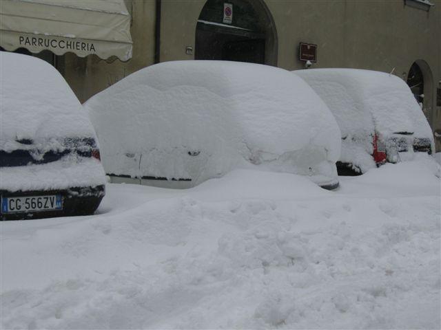 Arcevia: disagi per la neve