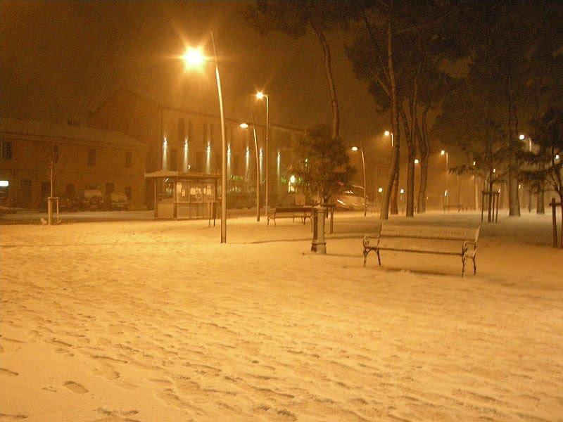 Giardini Catalani di Senigallia sotto la neve