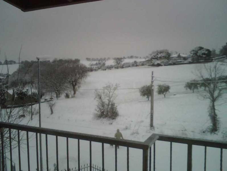 Neve a Roncitelli di Senigallia