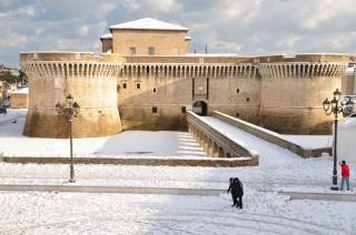La Rocca di Senigallia innevata