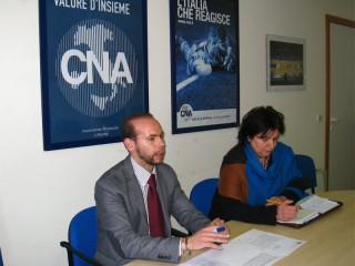Massimiliano Santini e Giovanna Curto, segretario e presidente CNA Senigallia