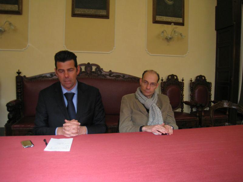 Maurizio Mangialardi e Simone Ceresoni presentano la variante al PRG