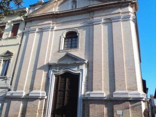 Facciata esterna dell'Auditorium San Rocco di Senigallia