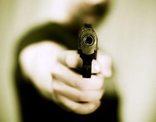 Rapina a mano armata, pistola