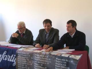 I vertici di Oasi-Confartigianato: da sx Mussoni, Cicconi Massi e Pierpaoli