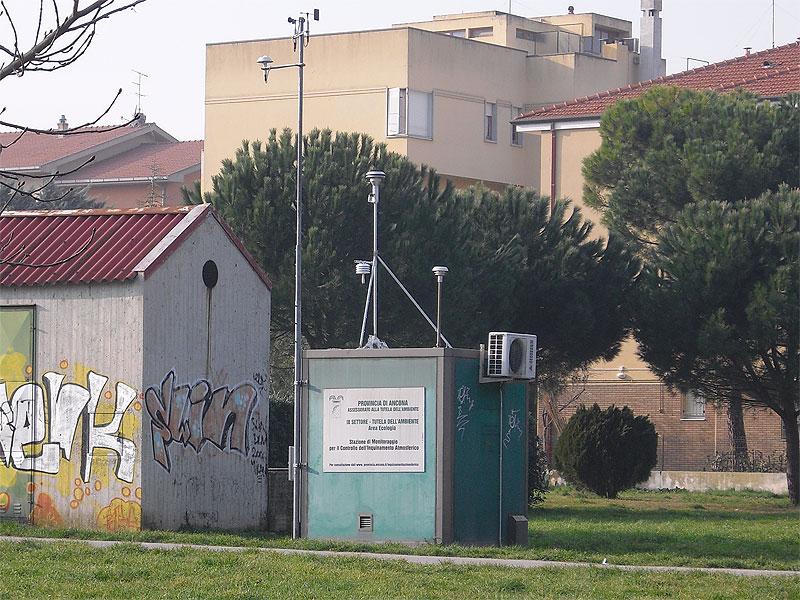 La centralina per il rilevamento delle PM10 a Senigallia