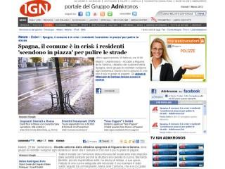 La schermata dell'articolo con la foto di Senigallia