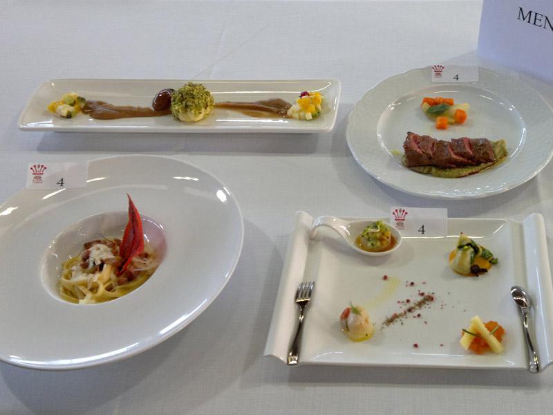 I piatti promossi dal Panzini al Gran Trofeo d'Oro della Ristorazione italiana