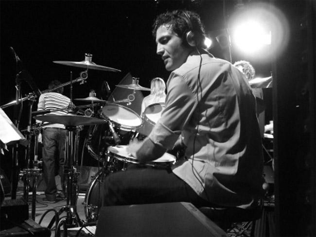 Marco Bellagamba alla batteria