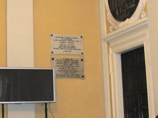 Targhe commemorative in omaggio di Aroldo Belardi e Alberto Zavatti