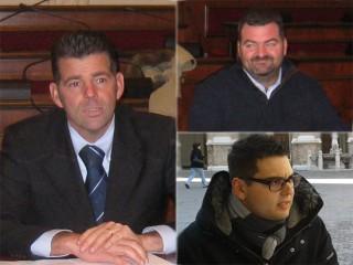 da sx in senso orario: Maurizio Mangialardi, Enzo Monachesi, Stefano Canti