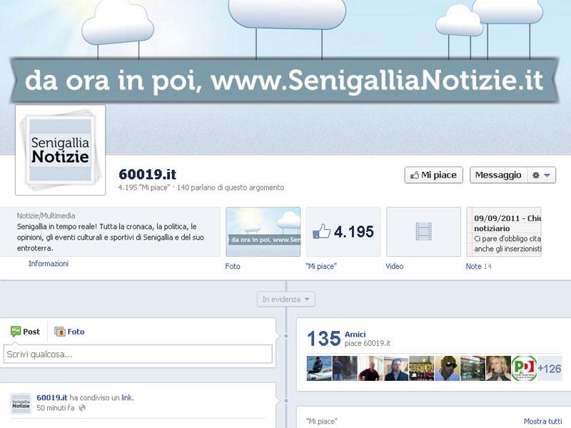 La pagina Facebook di Senigallia Notizie