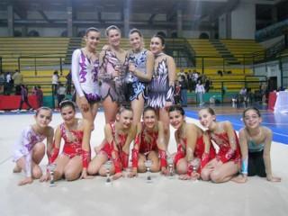 Le ragazze della ginnastica ritmica della Uisp Senigallia