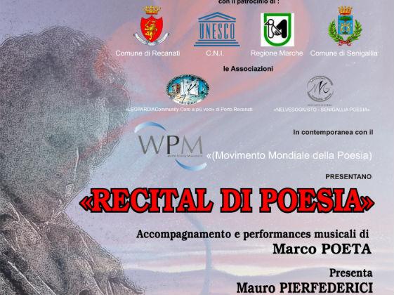 Volantino Giornata Mondiale della Poesia a Recanati