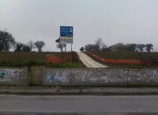 Area di via Cellini destinata ai parcheggi
