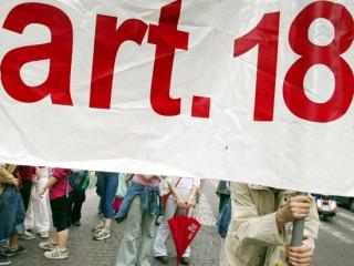 Manifestazione in difesa dell'articolo 18