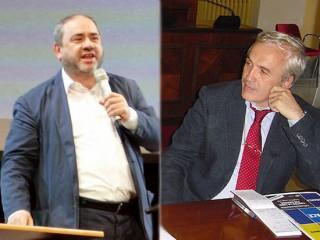 Tonio Dell'Olio, vice-presidente di Libera, e Flavio Lotti, coordinatore nazionale della Tavola della Pace