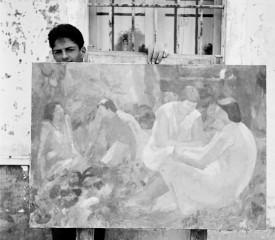 """Luciano Casaroli, """"Dipinto con sorelle"""" (1953)"""