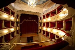 """Interno del Teatro """"Goldoni"""" di Corinaldo"""