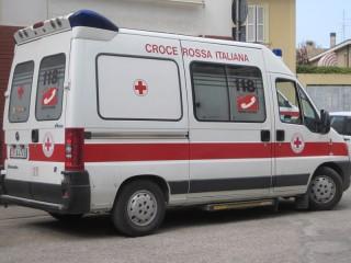 Ambulanza CRI a Senigallia