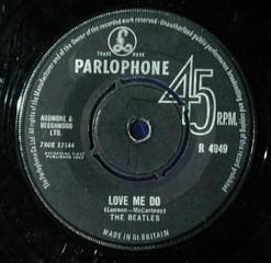 Copertina 45 giri Love me do