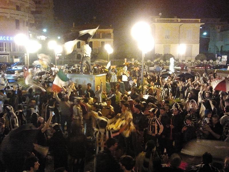 Senigallia festeggia lo scudetto 2012 della Juventus