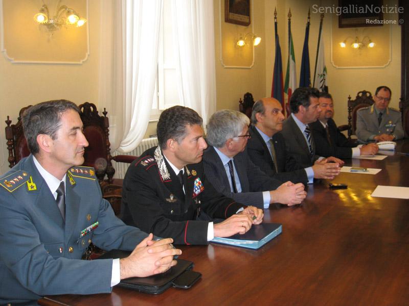 Incontro a Senigallia del Comitato per l'ordine pubblico e la sicurezza