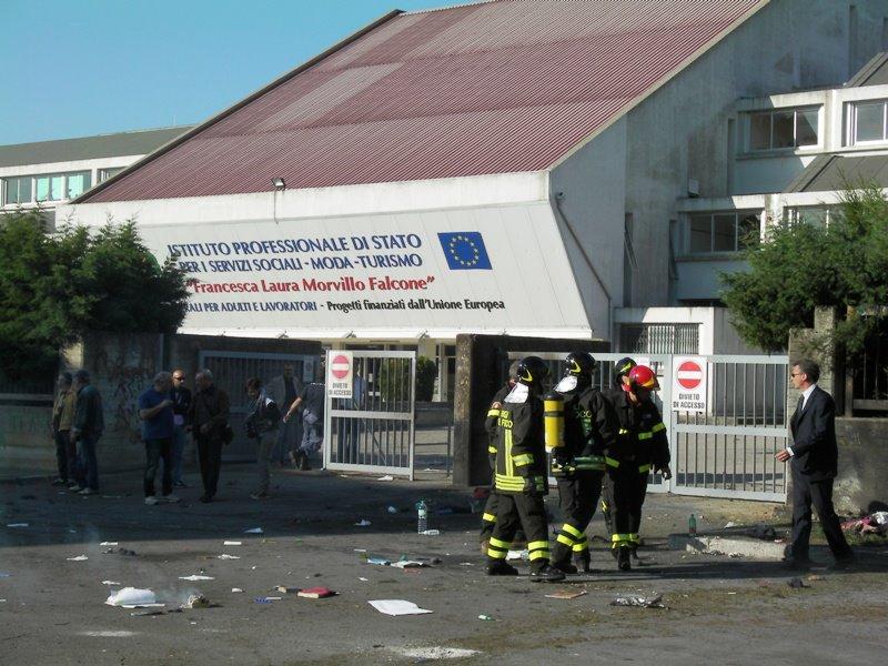 La scuola Morvillo Falcone dopo l'attentato