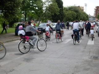 Bicincittà, passaggio zona Parco della Pace