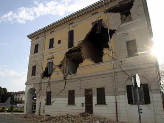 Terremoto del 20 maggio 2012 in Emilia Romagna: il municipio di Sant'Agostino