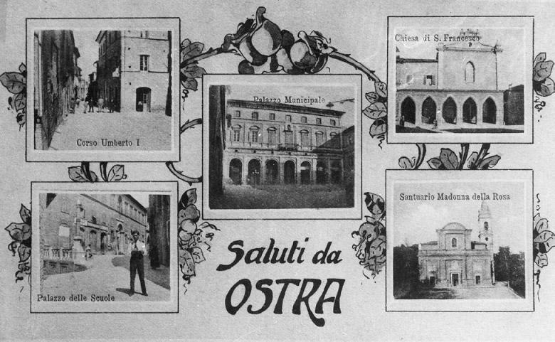 una cartolina di Ostra dei primi del '900