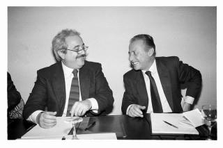 Giovanni Falcone insieme a Paolo Borsellino