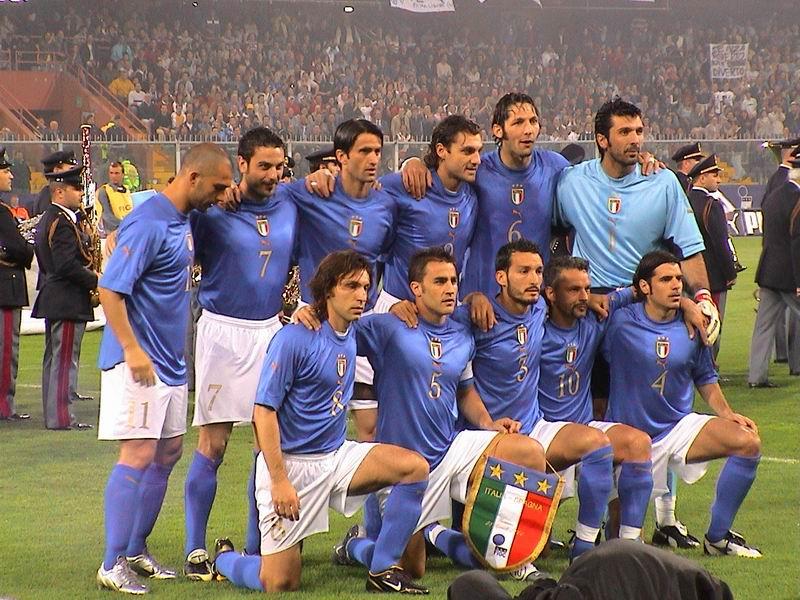 La nazionale di calcio italiana