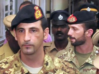 I due marò italiani Massimiliano Latorre e Salvatore Girone