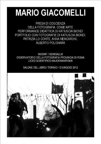 Copertina mostra di Mario Giacomelli al Salone del Libro di Torino