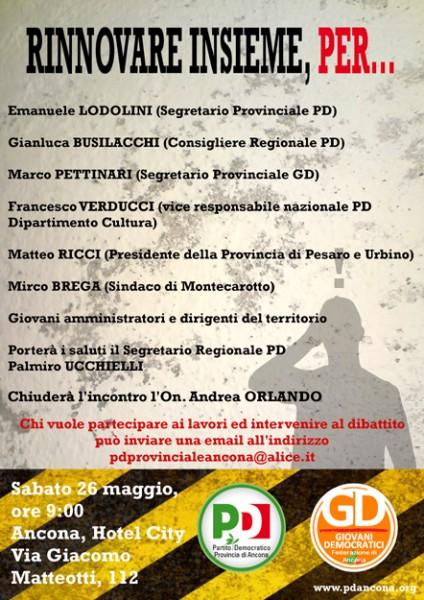 Incontro Pd Ancona del 26 maggio