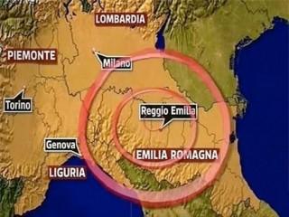 Epicentro a nord di bologna