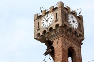 La Torre di Novi crollata dopo l'ultima scossa di magnitud0 5,1