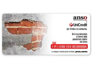 Locandina per la raccota fondi per l'Emilia Romagna e la Lombardia