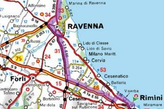 L'epicentro del sisma a largo delle coste di Ravenna