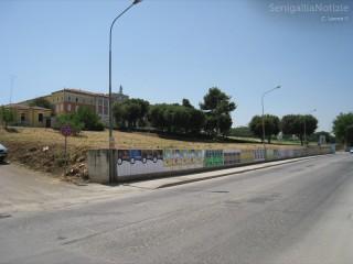 Via Cellini a Senigallia: la collina dove verrà costruito il nuovo parcheggio