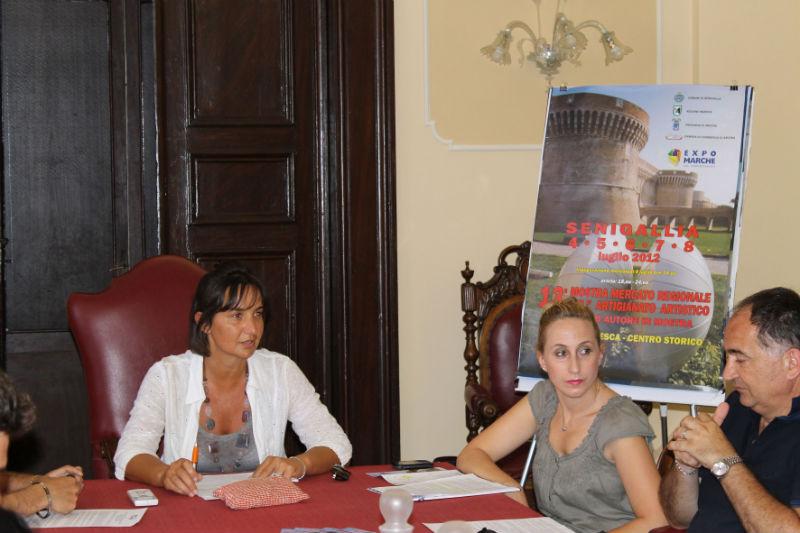 L'Assessore Curzi, Michela Fioretti (Direttrice Expo) e Gregorio Gregori (Presidente Expo)