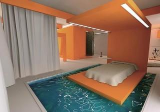 Camera da letto con piscina