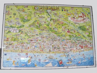 Poster città di Senigallia disegnata