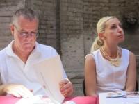 Eros Gregorini, presidente ass. Pozzo della Polenta, e Giorgia Fabri, assessore alla cultura di Corinaldo