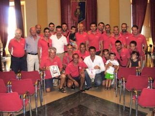 Il G.S. Real Vallone ricevuto in municipio da Sindaco e Vicesindaco